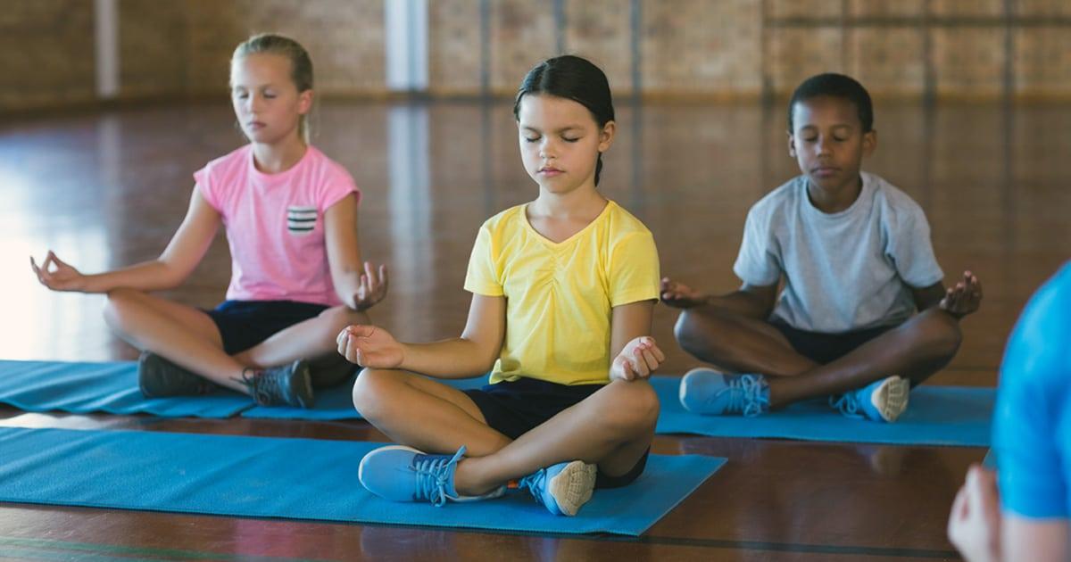 Kids practicing mindfulness